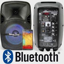 """COPPIA CASSE AMPLIFICATE ATTIVE 8"""" BLUETOOTH + USB monitor spia dj locali Pub"""
