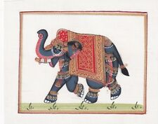 (21613) Hand painted elephant design on fabric approx. 11cm x 9cm