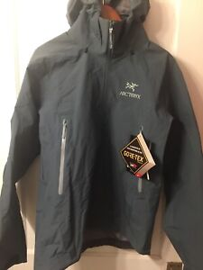 Arc'teryx Beta AR Jacket Gore-Tex Pro Men's Large Neptune New Free Shipping