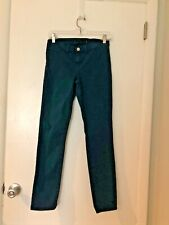 J. Brand New Without Tags Dark Teal Riviera Skinny Leg Stretch jeans size 26