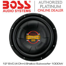 "Boss Audio D12F - 12"" Shallow Mount Car Subwoofer 1000W Max Power"