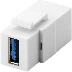 Keystone USB 3.0 A hembra a A hembra  Blanco
