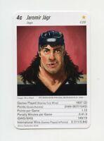 JAROMIR JAGR Pittsburgh Penguins Very Rare SWITZERLAND Hockey Game Card SCARCE