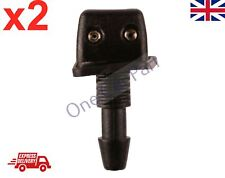 PAIR UNIVERSAL WINDSCREEN WASHER TWIN JET STRAIGHT INLET SCREW NUT FITTING