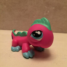 Littlest Pet Shop LPS #1575 Iguana Pink & blue - USA seller - 9 pictures.