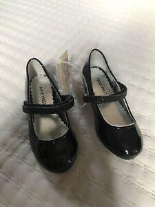 Baby Girl Infant Toddler Nine West Black Glittery Dress  Holiday Shoes Size 7