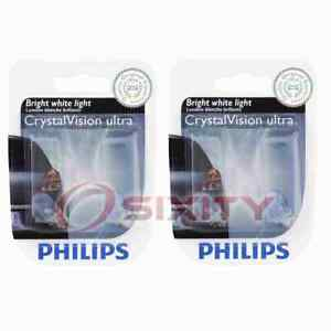 2 pc Philips Front Side Marker Light Bulbs for Audi 5000 A3 A3 Quattro A4 A4 qc