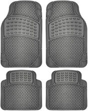 Car Floor Mats for All Weather Rubber 4pc Set Semi Custom Fit Heavy Duty Gray