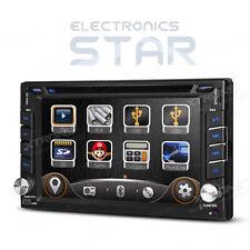 "6.2"" Head Unit Double DIN Car DVD Player Stereo GPS Sat Nav Radio RDS Bluetooth"