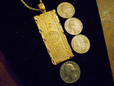 bling gold plated 100 dollar bill pendant charm chain necklace hip hop jewelry