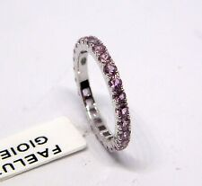 Wedding Ring Oro White 18KT Sapphires Pink Eternal New Ring White Gold Pink