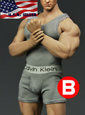 1/6 Men Tank Top Underwear Set GRAY For Phicen M33 M34 Hot Toys Muscular Figure