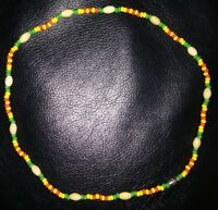 22 INCH HANDMADE BEAD NECKLACE