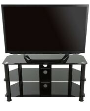 "Glass TV Stand AVF SDC1250CMBB-A TV Stand for 39""-60"" Black w/ Cable Management"