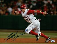 Reggie Willits Signed 8X10 Photo Autograph Anaheim Angels Stealing 2nd Auto COA