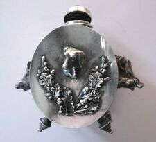 89-Antique silver Russian ink well