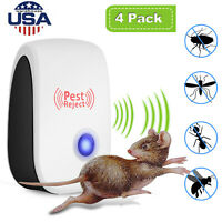 4Pack Ultrasonic Pest Repeller Control Reject Insect Mosquito Rodent Bug Plug US