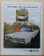 1966 magazine ad for Chrysler 300 convertible - Take Charge, Move Up, colorful