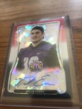 2020 Leaf Metal Draft Jacob Eason Auto Silver Refractor 1/3 Colts Cracked Ice
