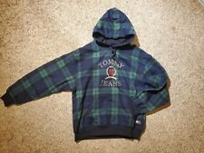 Men's Tommy Hilfiger Tommy Jeans Embroidered Crest Plaid Hoodie Size M