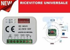 RICEVENTE UNIVERSALE RADIO RICEVITORE TLECOMANDI MULTI RX 12-30V 433 o 868 Mhz