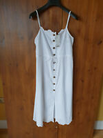 RRP £69 - URBAN OUTFITTERS SUMMER MIDI DRESS White Cotton L / UK 16 / 44 - NEW