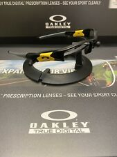 �� Oakley Flak Jacket Polished Black Black/Yellow Icons Fast Free S/H ��