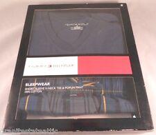 Tommy Hilfiger S PJ Pajama set Short Sleeve V-Neck Tee & Poplin Pants SHIPS FREE