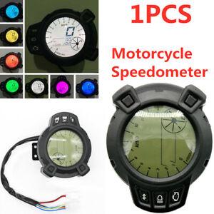 7 Color Motorcycle Speedometer LCD Digital Speedometer Tachometer Odometer Gauge