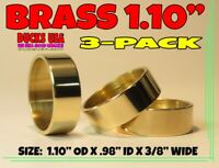 "Duck Call Brass Bands RARE 1.10"" OD Special 3-Pack Polished Brass Bands Nice!!"