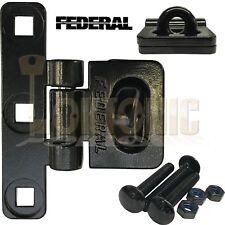 Federal FD701HS Heavy Duty Vertical T-Shape Steel Van Shed Garage Hasp + Staple