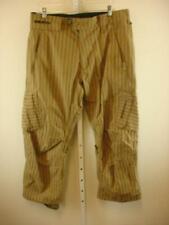 BURTON TWC GREENLIGHT White Collection Stripe 10k Snowboard Pants Mens M 34 X 30