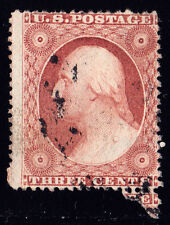 #26A - 3 Cents 1857, 20R11e, Pale Rose Brown, w/Recut Right Inner Frame Line