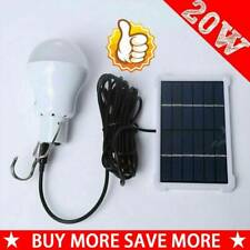 15W Solar Powered LED Light Bulbs Outdoor Indoor Camping Rechargeable Lamp Hot