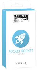Secura Pocket Rocket 49 MM Extra Narrow Kondombreite 12 Piece Prevention Moist