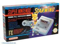 SNES - Konsole #Starwing Set + Spiel + Original Controller + Zub. mit OVP