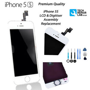 NEW WHITE iPhone 5S Replacement Retina LCD & Digitiser Touch Screen UK Free Post