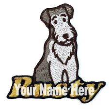 Wirehaired Fox Terrier Dog Custom Iron-on Patch With Name Personalized Free