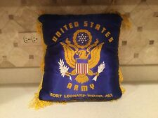 Vintage Military Us Army Pillow Sham Cover W/ Pillow Fort Leonard Wood Mo