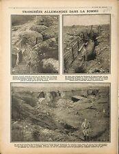 Combles Deutsches Heer Artillery Tranchée Bataille de la Somme/Poilus 1916 WWI