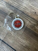 Vintage Collectible Coca Cola Red & White Plastic Keychain NOS