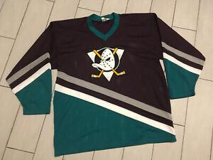 Vintage 90's ANAHEIM MIGHTY DUCKS NHL Hockey JERSEY Sz XL CCM EMBROIDED CREST