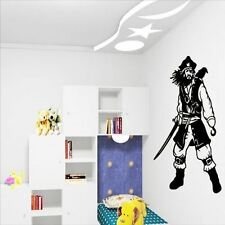 Huhome PVC Wall Stickers Wallpaper Pirate bedroom doors dorm living room home de