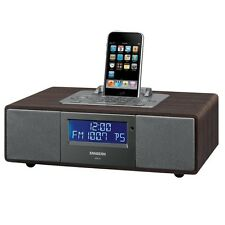FM-RDS (RBDS) / AM / Aux-in Tabletop Wooden Cabinet Receiver Compatible w/iPod