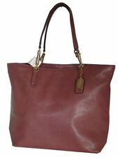 NWT COACH MADISON LEATHER NORTH SOUTH TOTE LIGHT GOLD ROUGE F26225