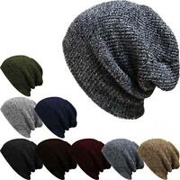 Warm Unisex Wool Knit Ski Baggy Cap Winter Men's Women's Skull Slouchy Beanie MT