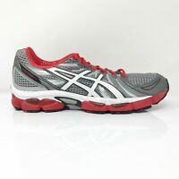Asics Mens Gel Nimbus 13 T142N Gray Red Running Shoes Lace Up Low Top Size 12.5