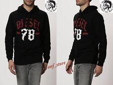 NWT Diesel S-ANJ Pullover Jumper Mens BLACK Sweater XL Hoodie Sweatshirt $228