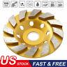 "New 4"" Diamond Segment Grinding Wheel Disc Grinder Cup Concrete Stone Cut USA"