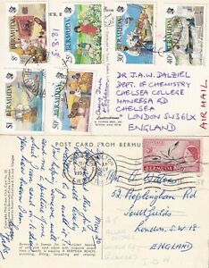 DDD 521 Bermuda 12 different stamped postcards UK: 1958 - 2009